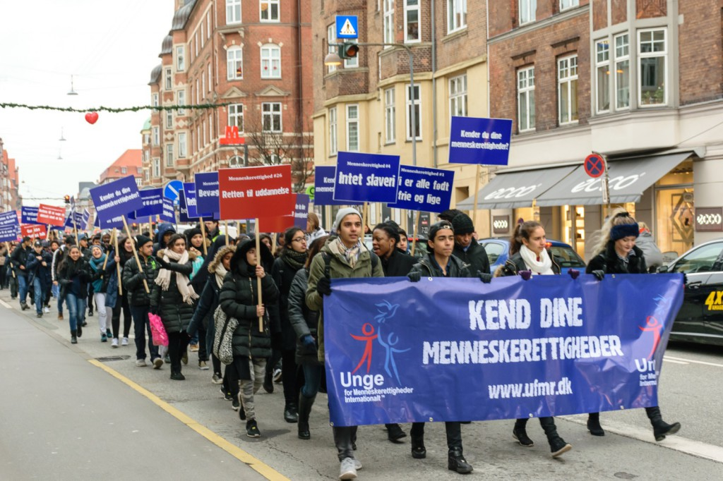 March for Menneskerettigheder på Amagerbrogade