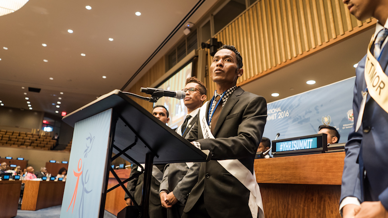 East Timor 3 Youth for Human Rights Summit 2016 UN Headquarters New York