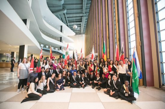 Youth from 41 nations at the Youth for Human Rights Summit 2016 UN Headquarters New York