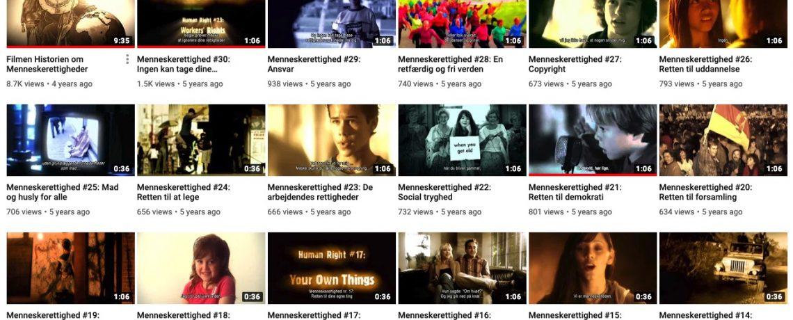 Menneskerettighedsvideoer